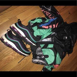 Nike wind breaker jacket and Air max 97 sneakers